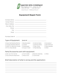 Services repair form