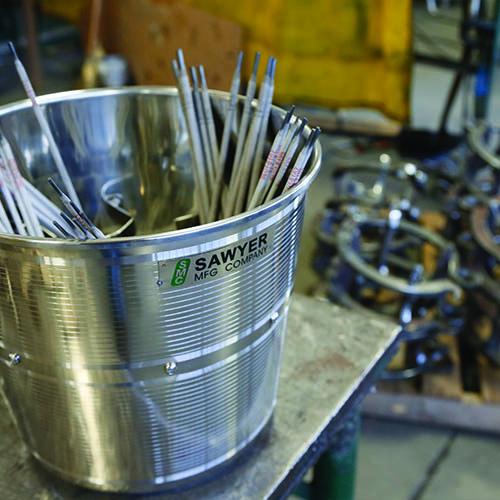 Pipe Jack Stands >> Welding Rod Bucket | Welding Tools | Sawyer Mfg Company