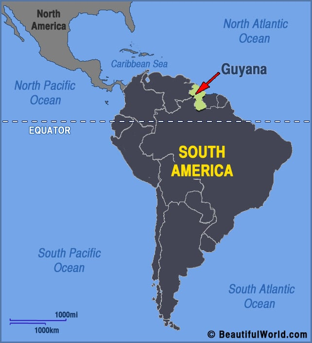 guyana-south-america-map | Sawyer Manufacturing